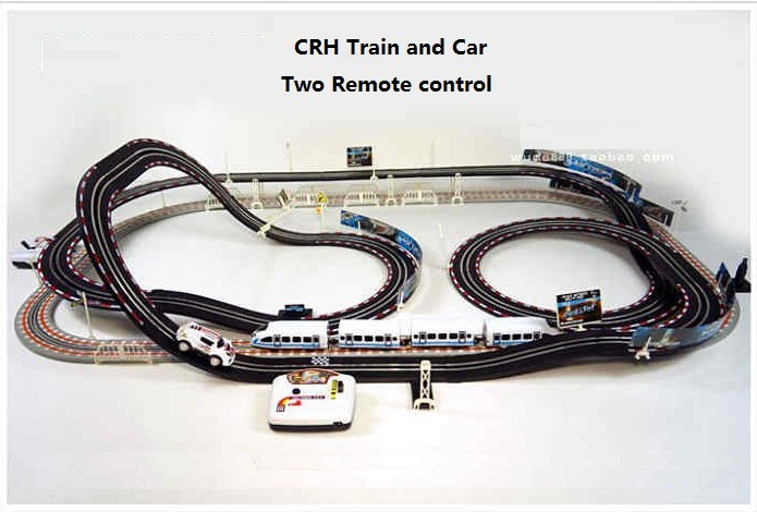 free shipping rc crh train track electric motor train toy best gift for kid long rail car remote control toys in rc trains from toys hobbies on