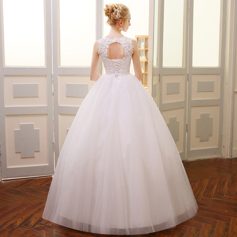 QQ Lover 2018 Högkvalitativ Ballkjole Bröllopsklänning Alibaba - Bröllopsklänningar - Foto 2