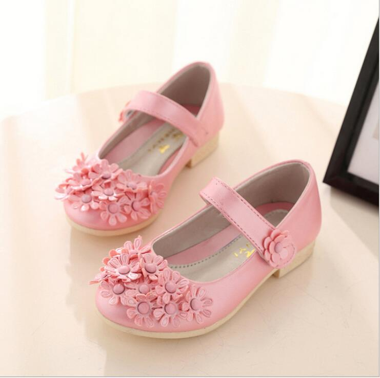 Hot 2016 spring big flower girls shoes fashion princess slip on hot 2016 spring big flower girls shoes fashion princess slip on children shoes rivet leather shoes for girls size 26 36 in sneakers from mother kids on mightylinksfo Choice Image
