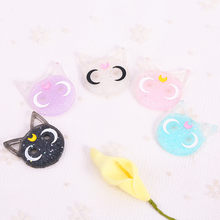 20pcs 24*28mm sailor moon cat resin charms necklace pendant keychain charms for DIY decoration(China)
