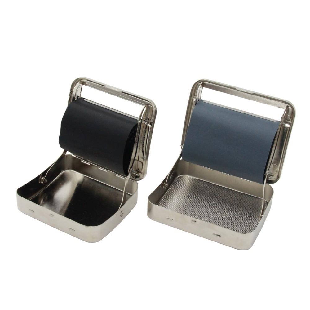 Automatinis cigarečių tabako ritinėlių suvyniojimo mašinos dėžutė, metalinis 70 mm / 78 mm