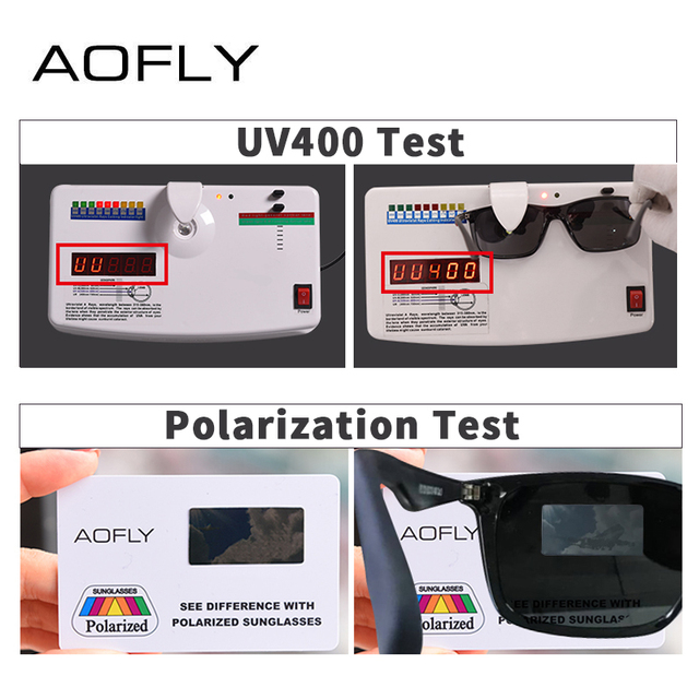 AOFLY BRAND DESIGN Classic Polarized Sunglasses Men TR90 Square Frame Sun Glasses Male Driving Goggles UV400 Eyewear AF8082 4