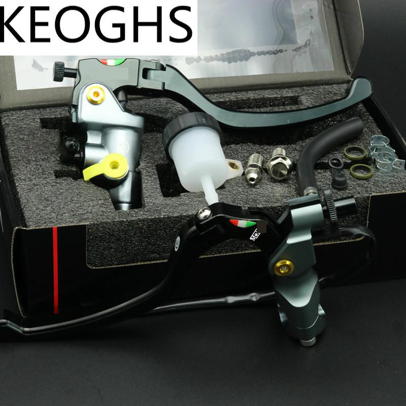 KEOGHS Universal 22mm 7/8'' Motorcycle Brake Master Cylinder Brake Clutch Lever Cnc Aluminum For Honda Yamaha Kawasaki Suzuki left 1 25mm universal motorcycle brake clutch master cylinder hydraulic pump lever for suzuki yamaha kawasaki honda