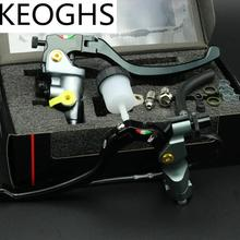 """KEOGHS Universal 22mm 7/8 """"Motorrad Hauptbremszylinder Bremszylinder Kupplungshebel Cnc Aluminium Für Honda Yamaha Kawasaki Suzuki"""