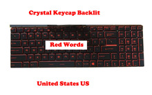 Keyboard For MSI GT63 GP63 GV62 GV72 GF72VR GV72VR GL62MVR GL63 GL72M GL62 7RE 8RD 7RFX United States US Crystal Keycap Backlit