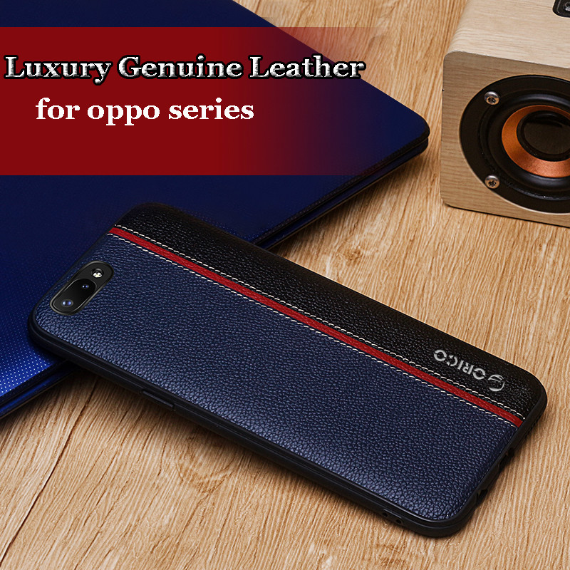 Genuine Leather Case for Oppo R11 R11s Plus Case Hit Color Capa for Oppo R11 Plus Cover Case Litchi Texture Back Case with Logo
