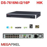 Megapixel 4K IP NVR Cctv Video Recorder 16ch Poe DS 7616NI I2 16P Camcorder Network Video