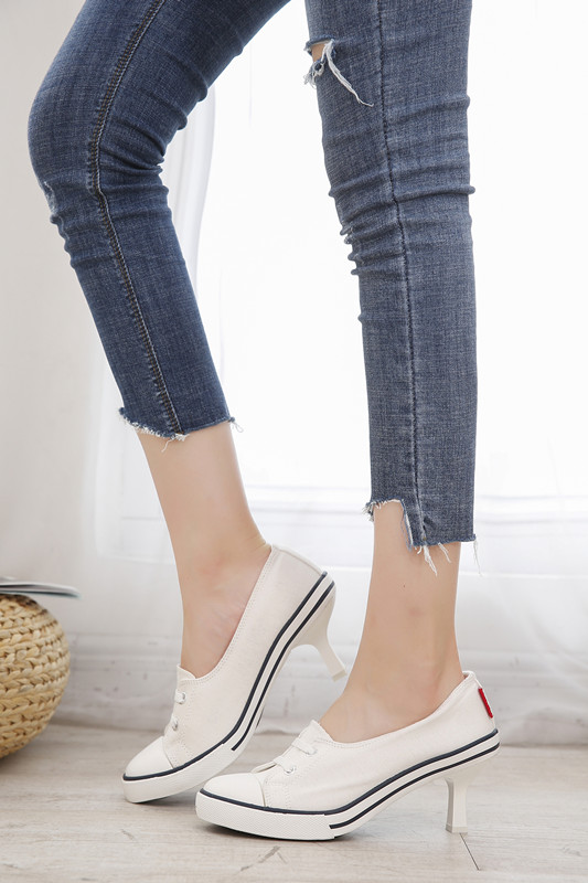 Pumps Shoes Women Europe America Style Women Spring Autumn Thin High Heel Lace Up Fashion Casual Denim Canvas Sigle Student ShoePumps Shoes Women Europe America Style Women Spring Autumn Thin High Heel Lace Up Fashion Casual Denim Canvas Sigle Student Shoe