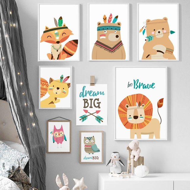 animals prints for nursery