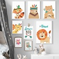 Deer Fox Lion Bear Owl Dream Nordic Posters And Prints Wall Art Canvas Painting Animal Wall Picture Baby Kids Room Bedroom Decor