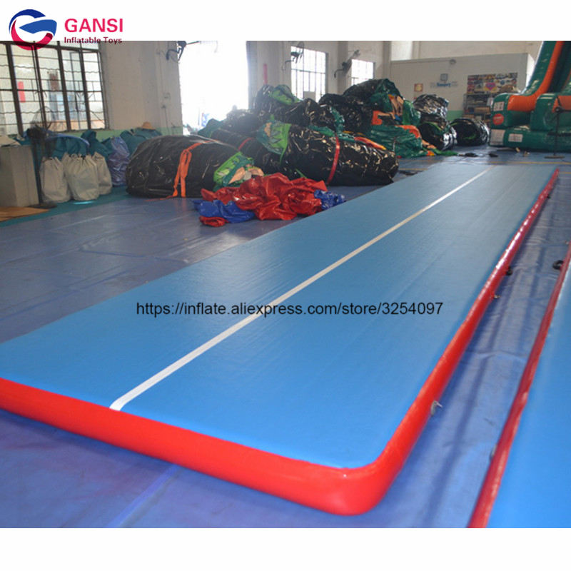 Adult sport equipment 8m inflatable gym mat air floor tumbling track pad inflatable air mattress for gym