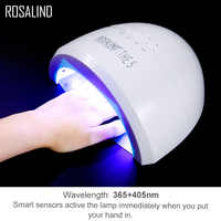 ROSALIND Lamp For Nails For Manicure UV Cured LED Light Nails Art Equipment Tools Nail Dryer Gel Polish Hybrid Lak Lamp