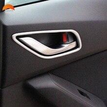 Для Mazda 6 M6 Atenza 2013-2018 ABS Матовый Интерьер автомобиля дверные ручки Стикеры боковой двери ручка чашки защиты крышка отделка Аксессуары