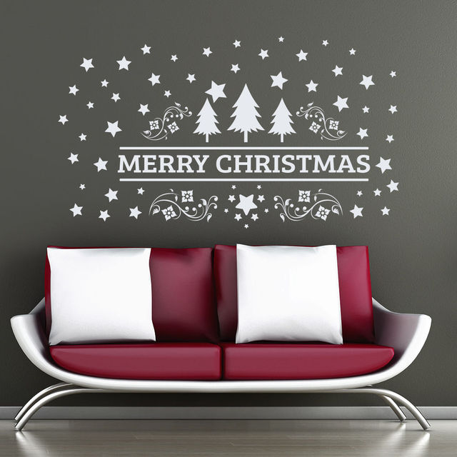 Superbe 2017 Merry Christmas Wall Decal Tree Vinyl Wall Sticker For Kids Room  Nursery Home Art Decor
