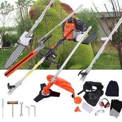Professionelle 5 in 1 52cc Multi Werkzeug Garten Trimmer Pinsel Cutter Hedge Kettensäge Verlängerung Pol
