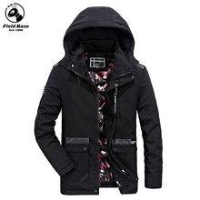 Field Base Winter Jacket Men Casual Thick Cotton Men Jacket Coats Brand Fashion Multi-Pockets Warm Parka Men Size L-3XL JOB8608