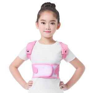 Image 3 - Children Kid Health Adjustable Magnetic Posture Corrector Back pain shoulder Support orthopedic corset Spine Support brace belt