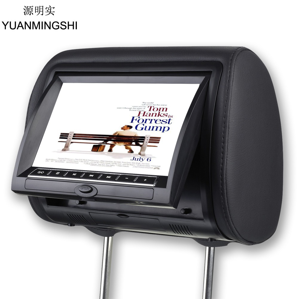 YUANMINGSHI 9 Inch Digital Car Headrest DVD Player Monitor Built-in Speaker Support USB SD Games Remote Control