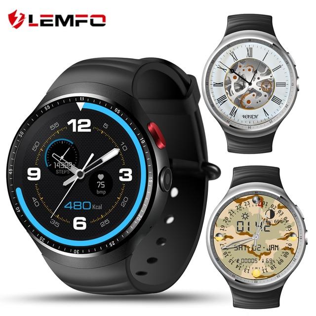 Lemfo LES1 3 г смарт часы телефон 1.39 дюймов 400*400 экран Android 5.1 поддержка sim-карты Bluetooth WI-FI GPS сердечного ритма SmartWatch
