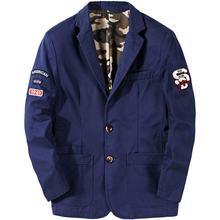 Демисезонный мужской костюм Повседневное пиджак Военная stlye