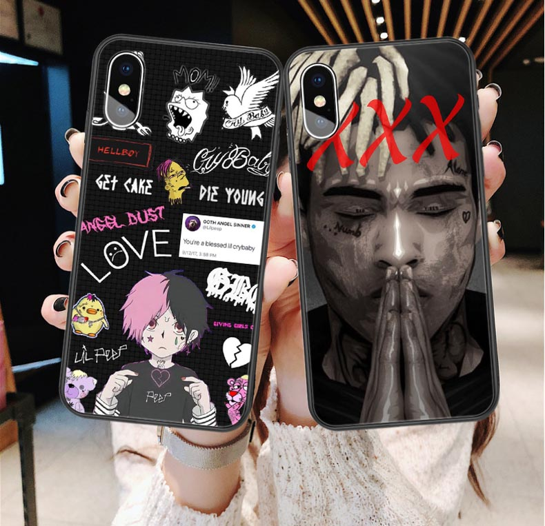 Lil peep Bad vibes forever <font><b>Case</b></font> For <font><b>iPhone</b></font> X 5S SE 6s <font><b>7</b></font> 8 Plus <font><b>Xxxtentacion</b></font> <font><b>Case</b></font> Silicone Coque For <font><b>iPhone</b></font> XS MAX XR Back Cover image