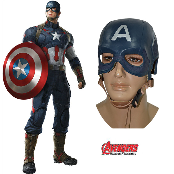 (In Stock)Avengers: Age of Ultron Captain America Mask Steve Rogers Helmet Cosplay Prop For Costumes Accessories