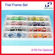 8 шт. качество TF-A оптический пробная оправа для подбора очков комплект фиксированной PD 56-58 60 62 64 66 68 70 мм