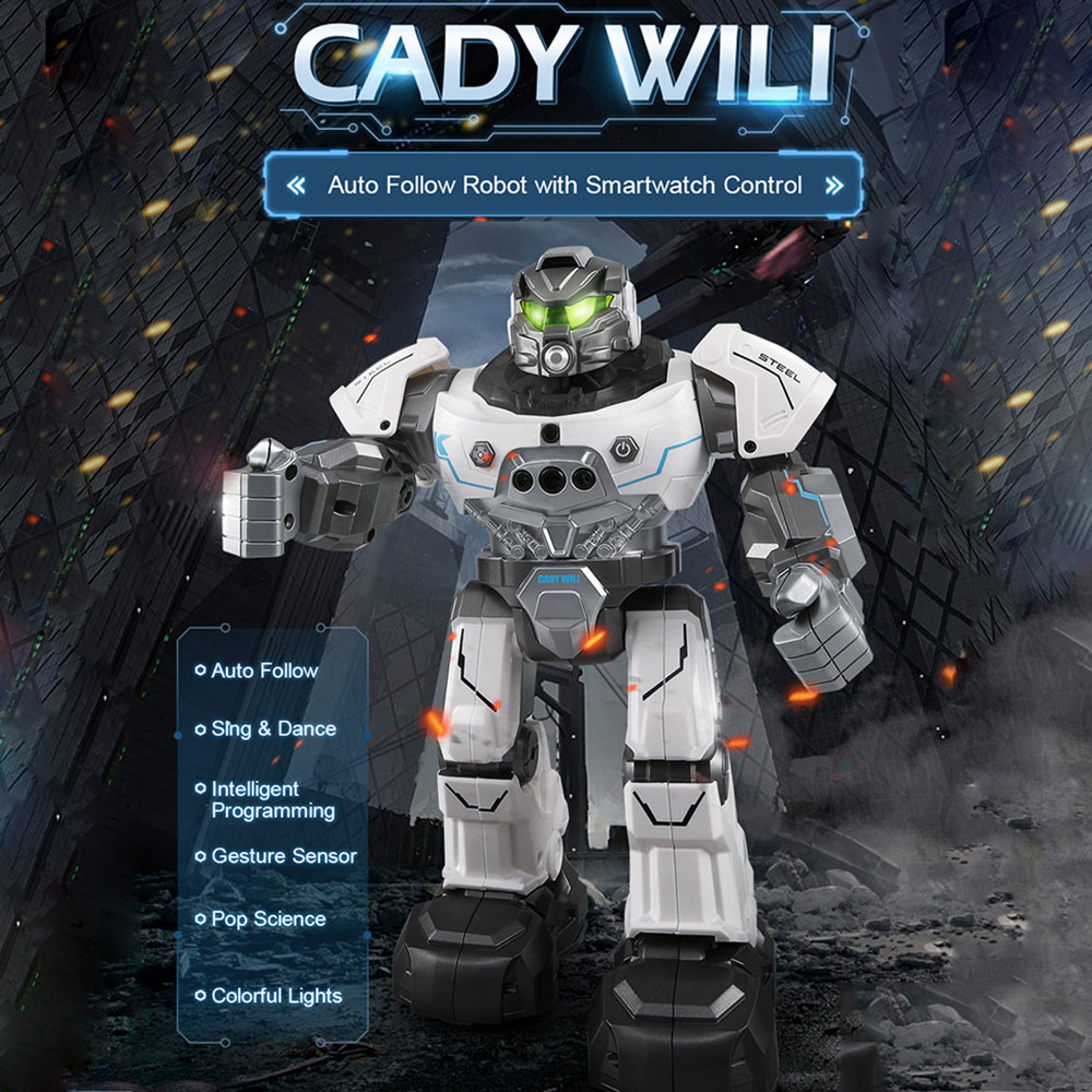 JJR/C JJRC R5 RC Robot CADY WILI SmartWatch Intelligent Programmation Enseignement de La Musique De Danse Robots Auto Suivre Geste Contrôle jouets