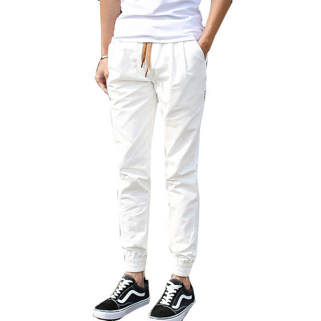 2017 Spring Autumn New Fashion Casual Mens  Hot Solid Pants Men