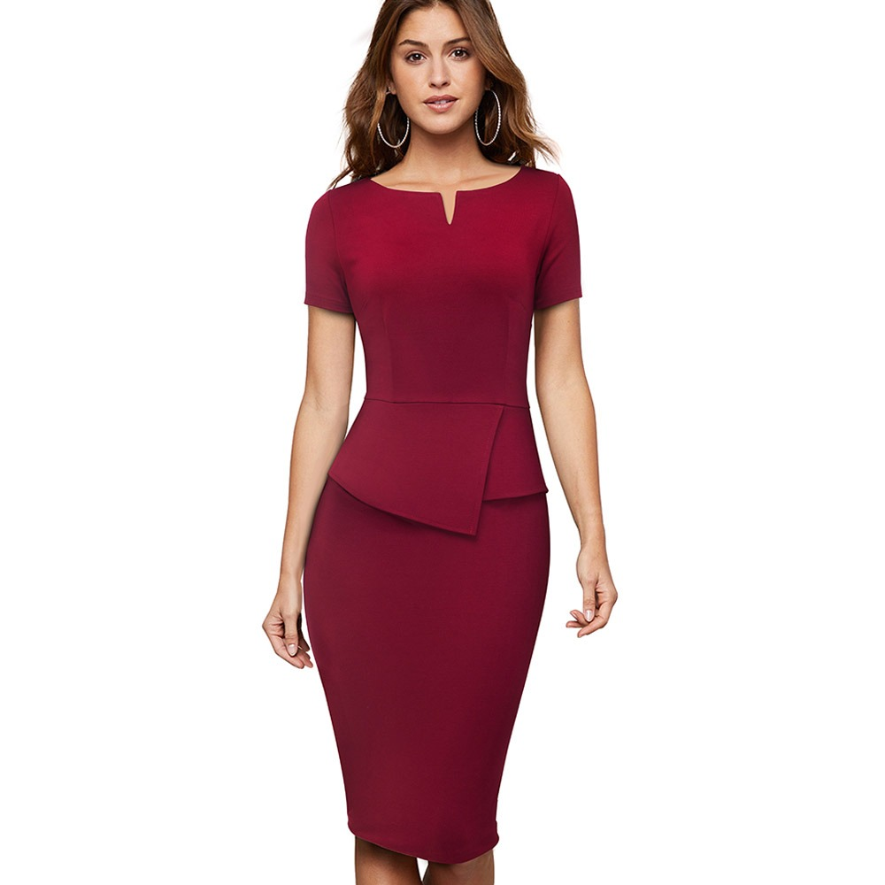 1cdf2837ea2ed Hot Sale] Autumn Professional Women Formal Sheath Bodycon Slim ...