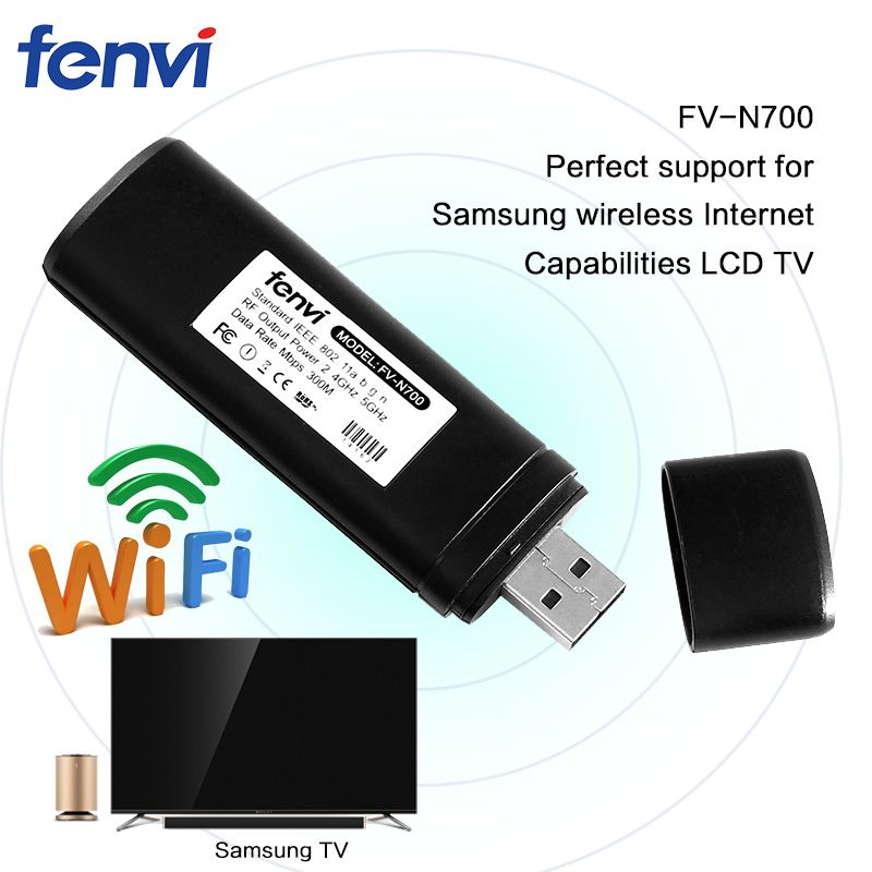 USB Wireless WiFi Network TV Card WLAN Adapter Wi-fi LAN Dongle Receiver 2.4G 5G 300Mbps For Samsung Smart TV Computer Laptop PC