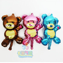 100pcs/lot 16inch Mini Bear air balloons wedding/party decoration Foil helium Ballons Happy birthday kids Children classic toys