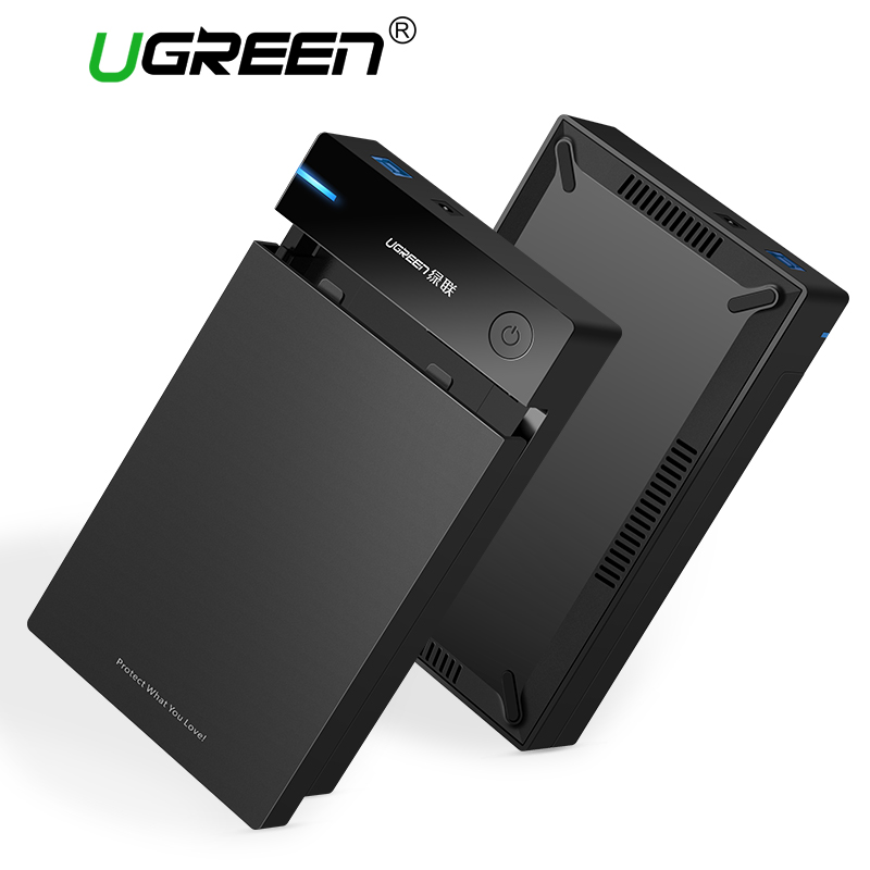 Ugreen 3.5 inch HDD Case SSD Adapter SATA to USB 3.0 for Samsung Hard Disk Drive Box 1TB 2TB 2.5 External Storage HDD Enclosure orico 2 5 usb 3 0 sata hd box hdd hard disk drive external hdd enclosure transparent case tool free 5 gbps support 2tb