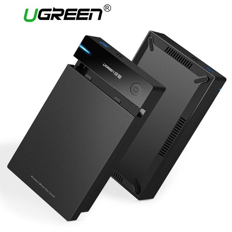 Ugreen 3.5 pulgadas HDD SSD SATA a USB 3.0 para Samsung Disco Duro caja 1 TB 2 TB 2.5 HDD recinto de almacenamiento externo