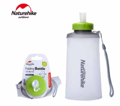 NH Portable Silicone Water Bag Outdoor Sport Camping Climbing Folding Water Bags 500ml 750ml Drink Kettle Cycling Travel Bottles