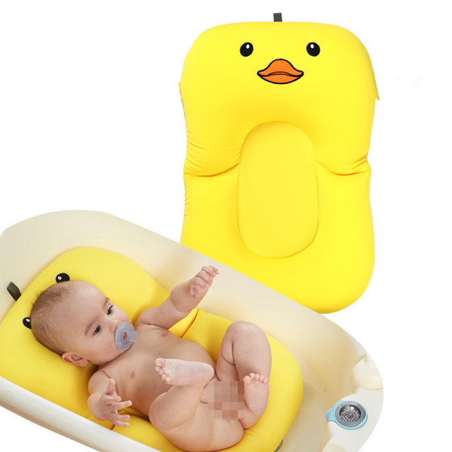 Bbaby Shower Portable Air Cushion Bed Babies Infant Baby Bath Pad Non-Slip Bathtub Mat NewBorn Safety Security Bath Seat Support 1