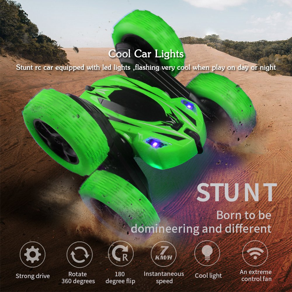 Image 5 - Stunt Rc Car, Remote Control Car, 360 Degree Flips Double Sided Rotating Race Car, High Speed Flashing Remote Controlled-in RC Cars from Toys & Hobbies