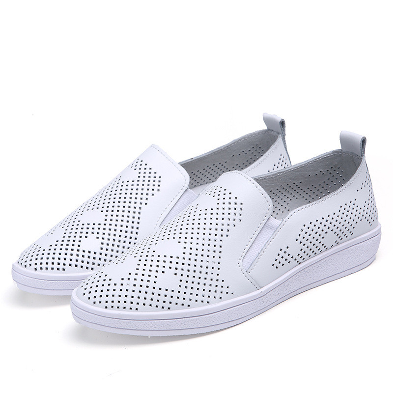 Women Loafers Flats Shoes Leather Casual Woman 2016 Brand Fashion Female White Creepers Ladies New Design shoes 5188