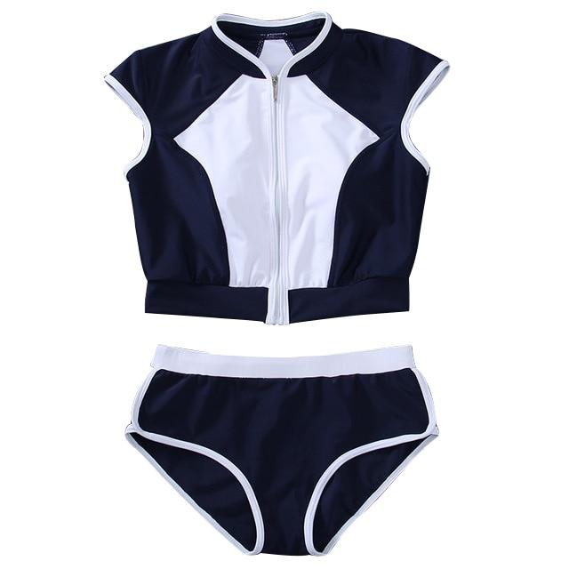 Black White Bandage Bikini Set font b Women b font Push Up Padded Zipper Bathing Suit