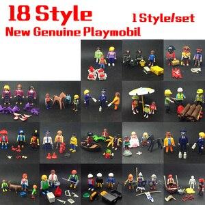 18 estilo mini playmobil princesa conjunto bonecas royal câmara de banho e quarto cama real com figura ação brinquedos