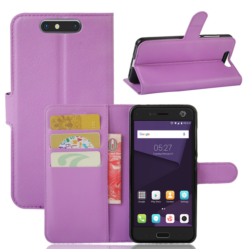 New Protective PU Leather Phone Case For ZTE Blade V8