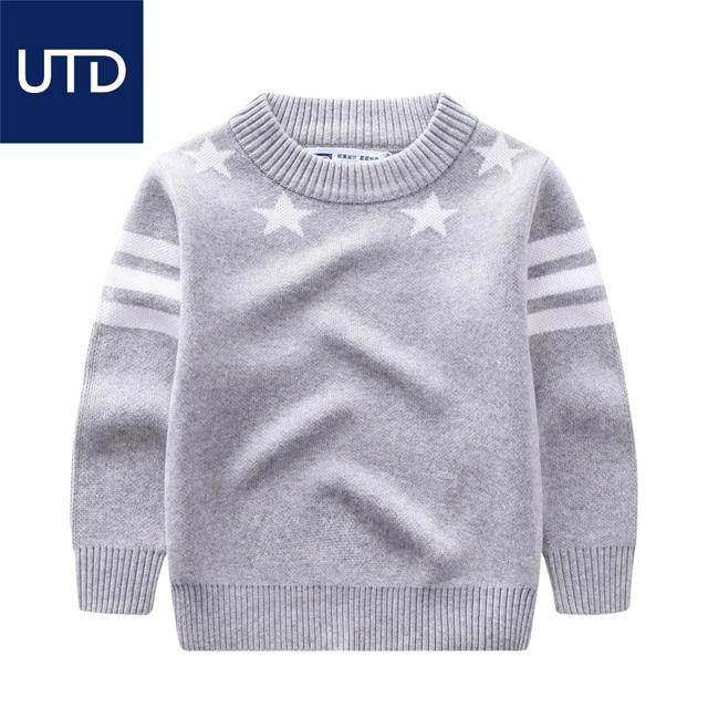 Na primavera de 2017 novas crianças menino camisola Pulôver de algodão das crianças 2-8 anos