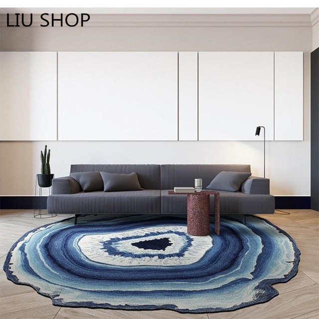 LIU Ring Round Tree Carpet Bedroom Living Room Computer Chair Mat Cushion Sofa Creative Nordic Pastoral
