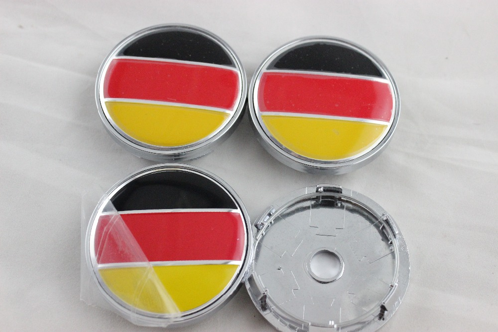 4 X 60MM CAR WHEEL Hub Center LOGO Caps BADGE EMBLEM Metal Aluminum Germany for Racing VW Audi VOLVO FIAT Universal Cars #SO226