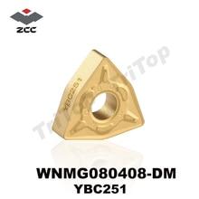 FREE SHIPPING WNMG 080408 -DM YBC251 ZCC.CT CNC CUTTING TOOL TURNING INSERTS WNMG432 WNMG080408 10PCS/LOT