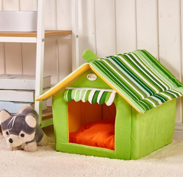 Cute Dog House Dog Bed Pet Bed Warm Soft Dogs Kennel tent Dog House Pet Sleeping : dog kennel tent - memphite.com