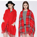 Hot 2017 New Autumn Winter Scarf and Shawl Pashmina Blanket Plaid Women Cashmere Wool Scarves Warm Fashion Pocket Scarves  ZC066