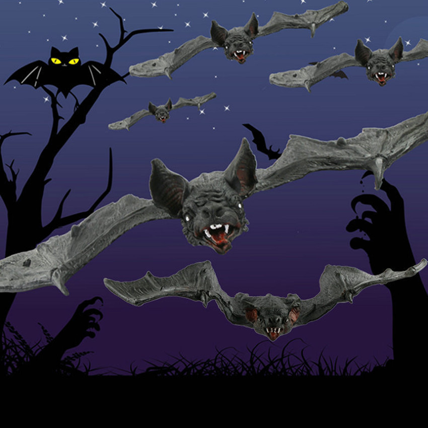 Simulation Animals Bat Artificial Funny Pendant Halloween Props Rubber Toys