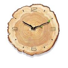 Decorativ Vintage drewniany zegar Cafe Office Home ściana kuchenna wystrój cichy zegar design Art duży zegar ścienny prezent home wallclock