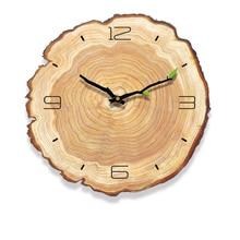 Decorativ 빈티지 나무 시계 카페 오피스 홈 주방 벽 장식 침묵 시계 디자인 아트 대형 벽시계 선물 홈 벽시계